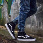czarne trampki sneakersy męskie vans