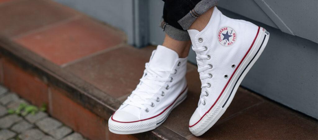 białe trampki converse damskie