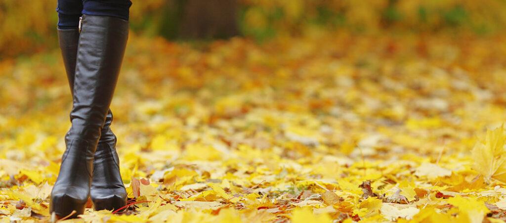 czarne kozaki na jesień