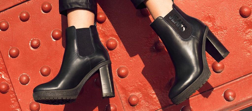 Czarne botki za kostkę