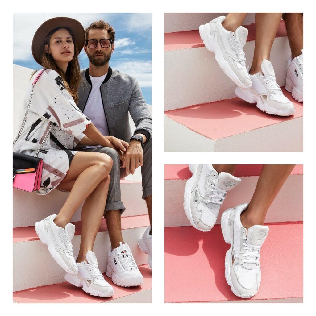Białe adidas Falcon