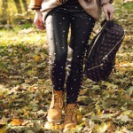 Timberlany damskie - stylizacja jesienna