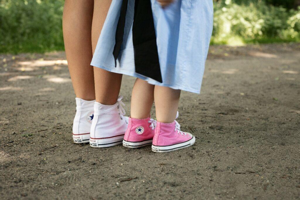 Dziecięce trampki Converse różowe i białe damskie conversy
