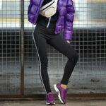 Buty sportowe i legginsy