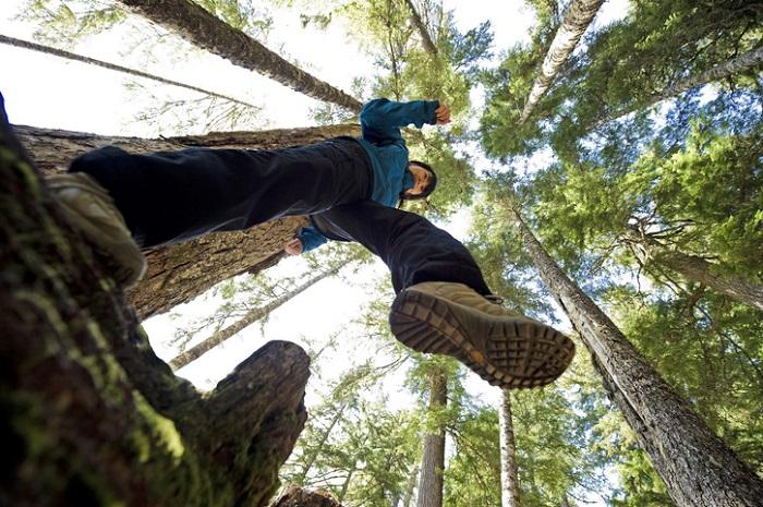 podeszwa butów do lasu