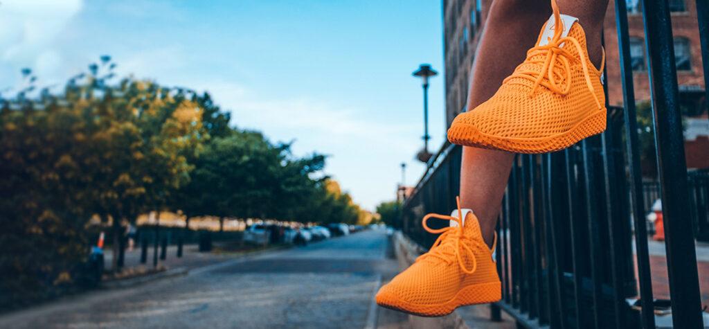 męskie buty z siatki