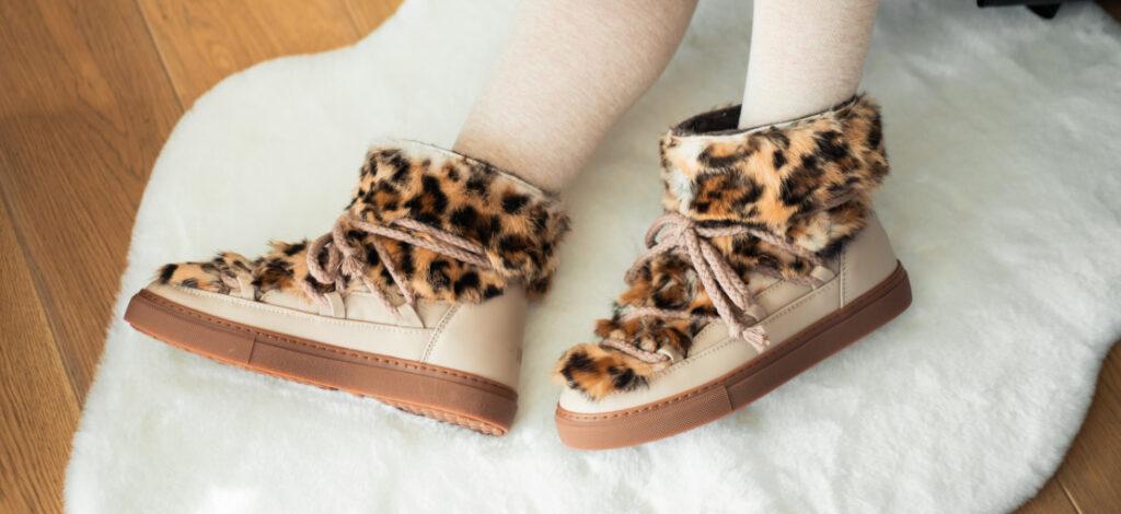 damskie śniegowce inuikii z futerkiem na nogach