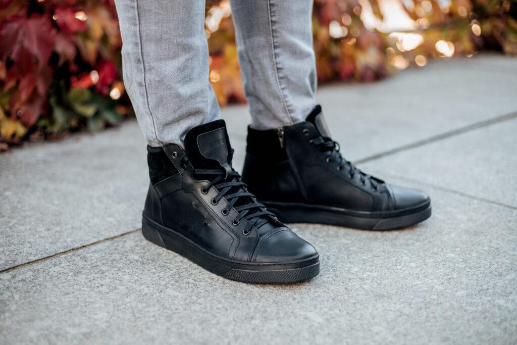 buty czarne męskie za kostkę