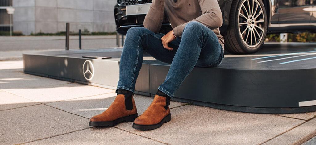 Sztyblety zamszowe i jeansy