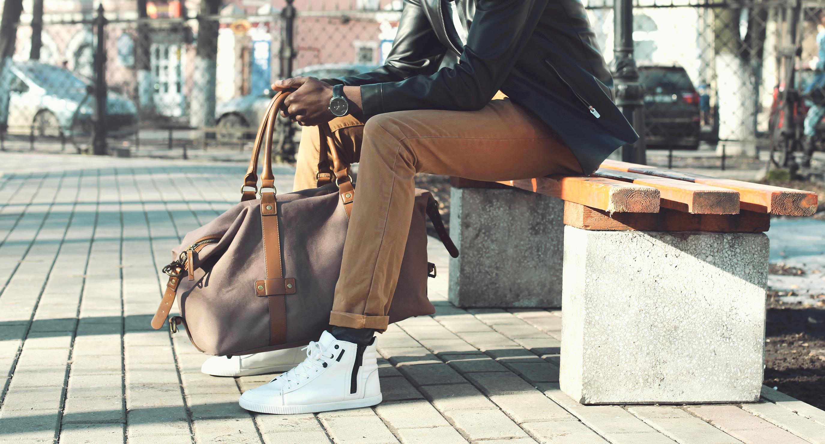 męskie białe sneakersy za kostkę
