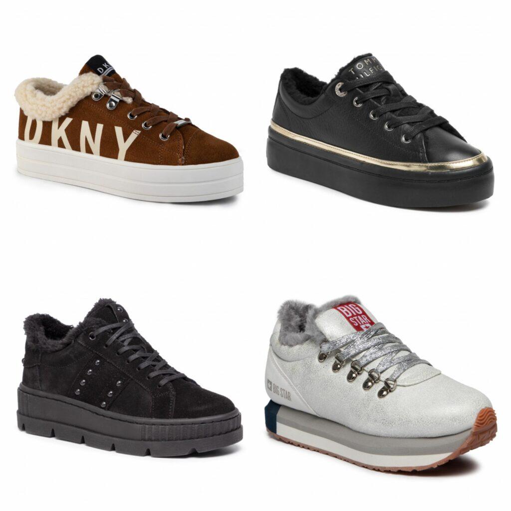 ocieplane sneakersy