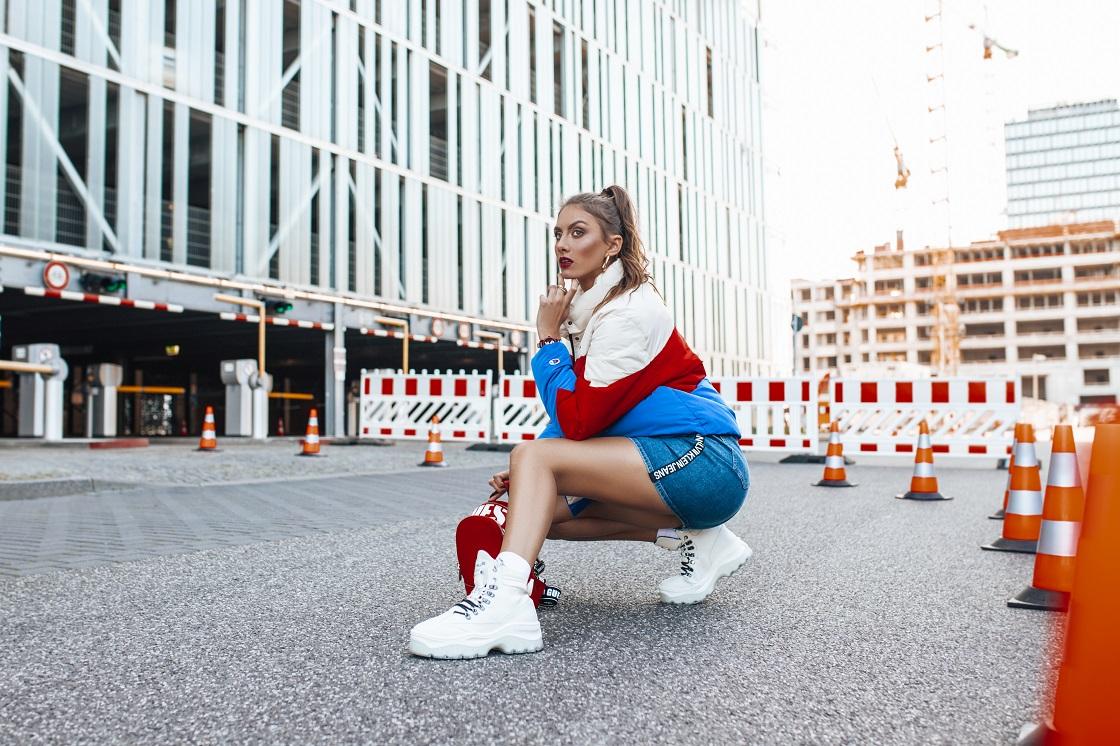 Sportowe botki w stylizacji streetwear