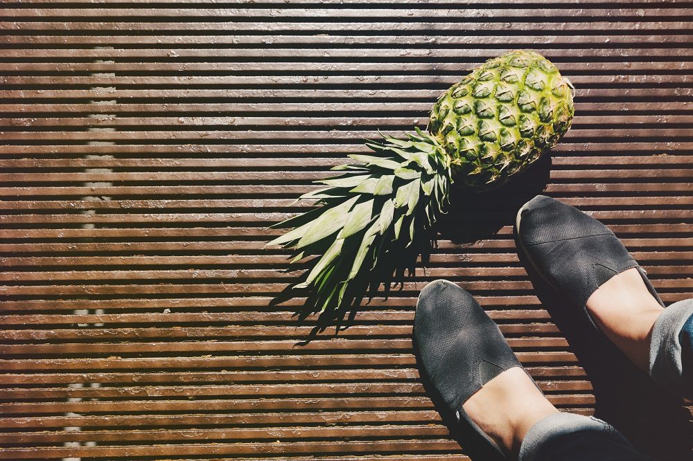 buty z ananasa