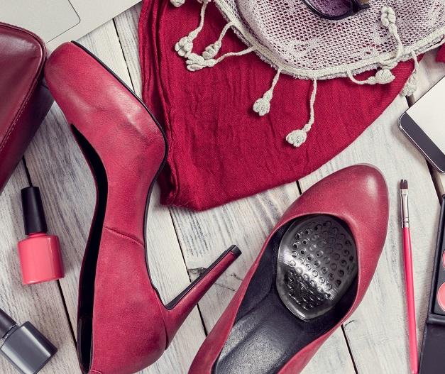 silikonowe półwkładki do butów