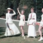 jak zmieniała się moda tenisowa na korcie