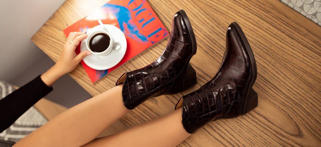 buty ze skóry lakierowanej
