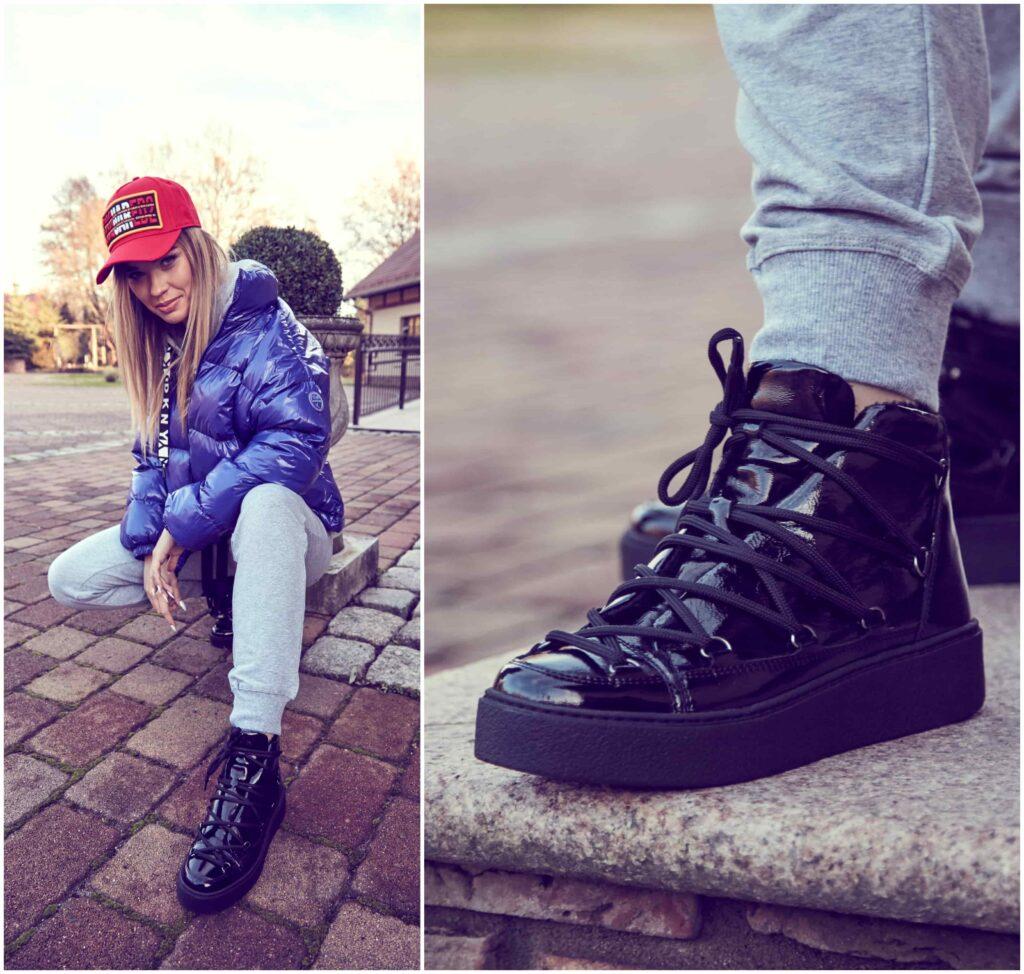 Sportowe buty marki Gino Rossi na modelce