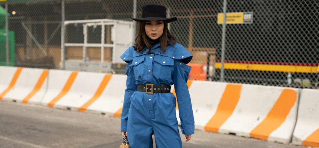 Modna kobieta na New Your Fashion Week