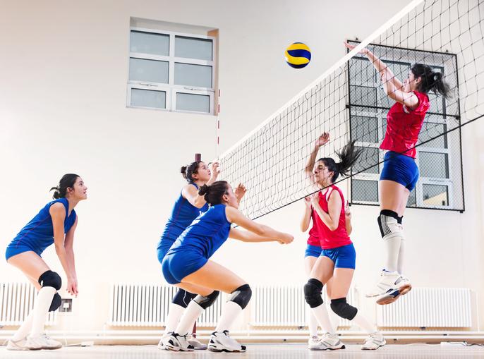 mecz siatkówki damskiej