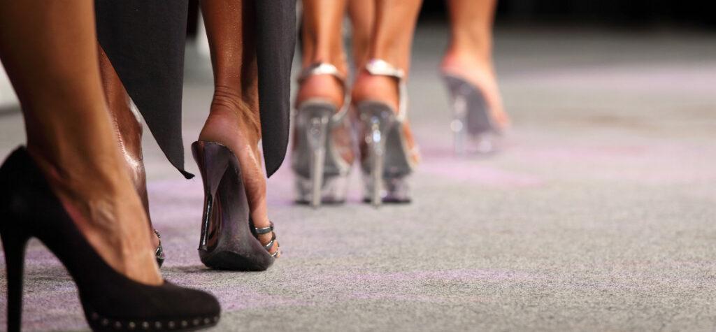 Pokaz mody, buty