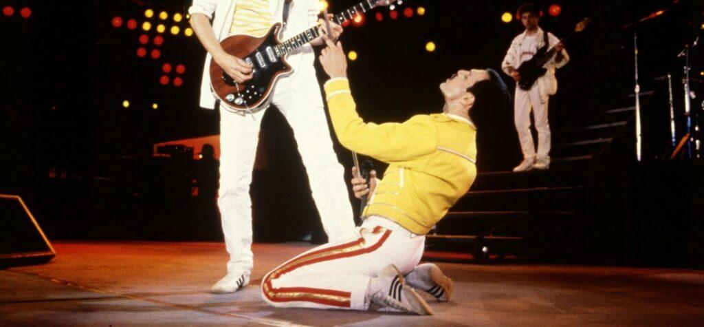 Freddie Mercury podczas występu na Wembley