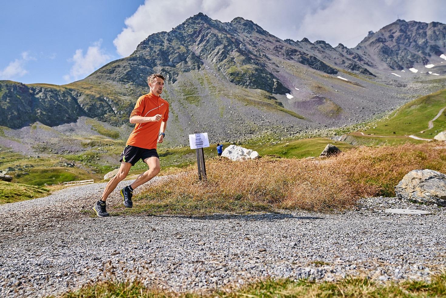 Marcin Chabowski podczas biegu