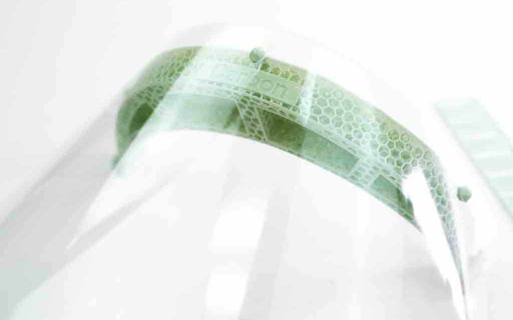 Przyłbica od adidasa drukowana w technologii 3D