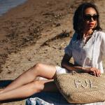 słomiana torba koszyk na plażę