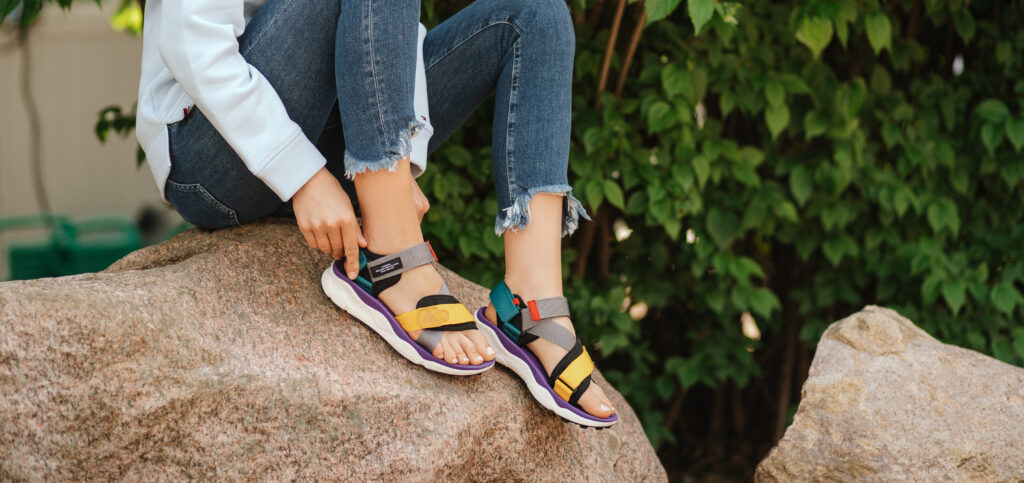 Kolorowe sandały ugly sandals
