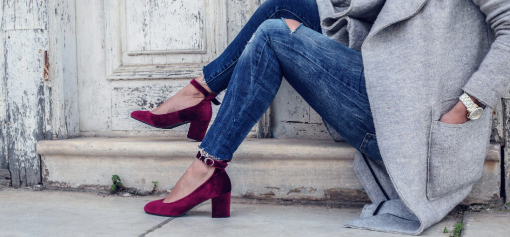 fioletowe buty