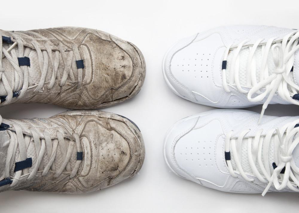 czyszczenie białych butów