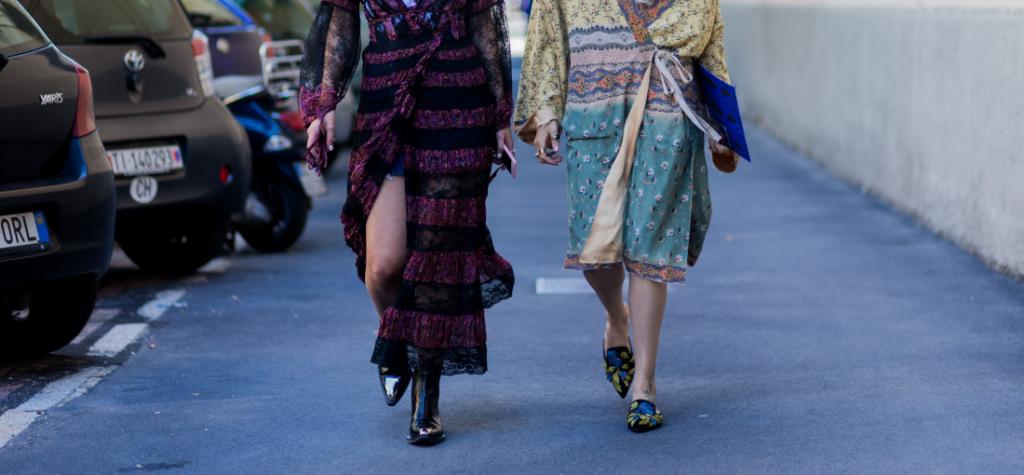 buty do sukienek boho - street style