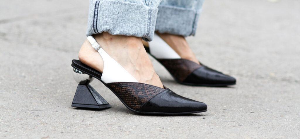 buty z oryginalnym obcasem