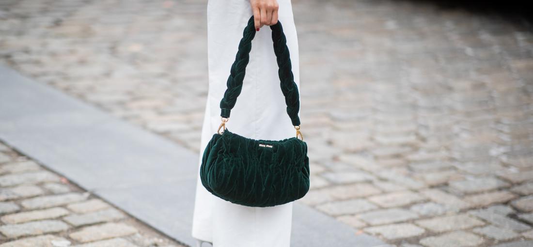 torebka w butelkowej zieleni
