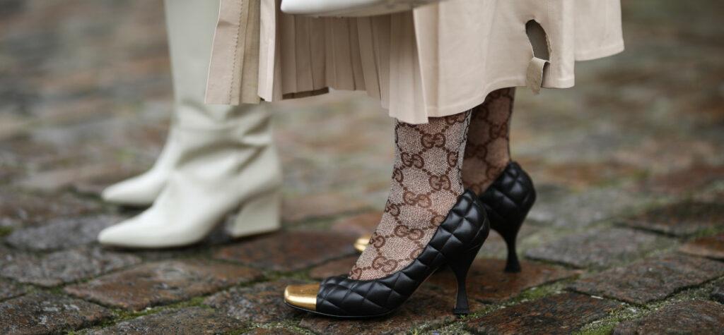 pikowane buty damskie
