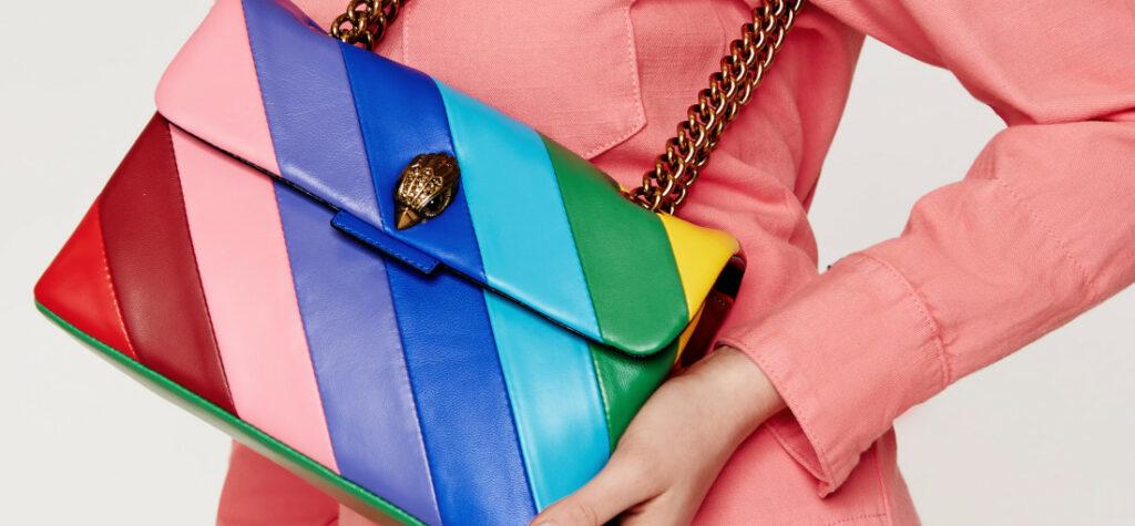torebka w kolorowe paski