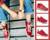 czerwone sneakersy damskie